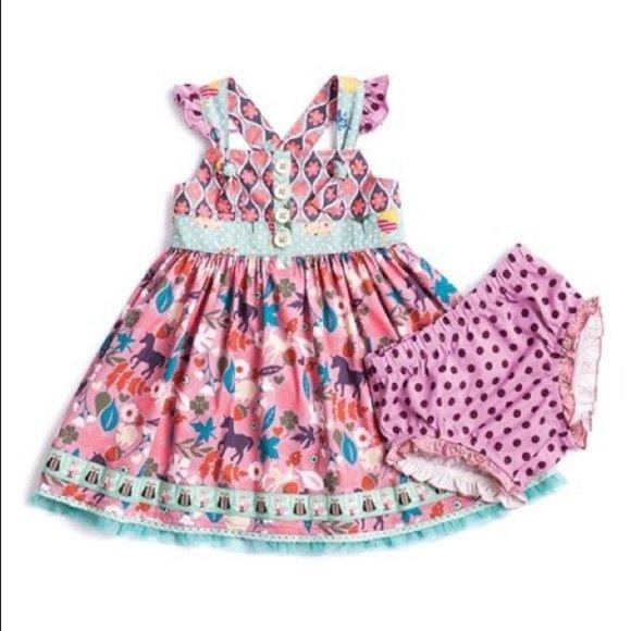 Matilda Jane Baby Quiet Horse Village Ruffle Dress